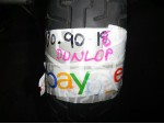 DUNLOP D404F TYRE 130/90/16 - USED - ROAD WORTHY